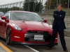 CVE Kazutoshi Mizuno stands next to the 2013 Nissan GT-R at Sportsland Sugo Circuit Murata City in Miyagi Prefecture, Japan.