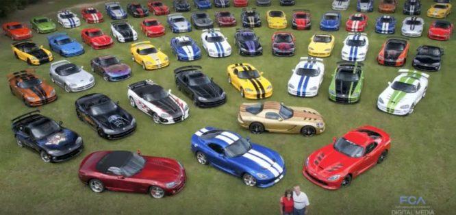 Nadšení manželé vlastní báječnou sbírku nejen Dodge Viperů – video