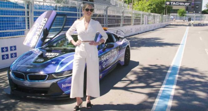 Alejandro Agag, šéf Formule E, vozí v BMW i8 modelky – video
