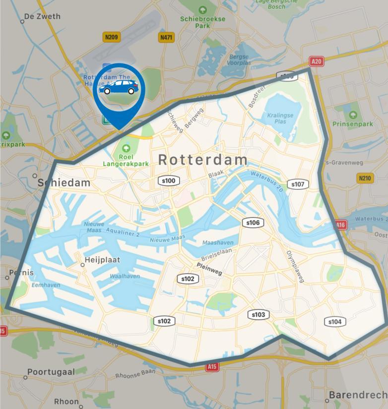 BMW-Rotterdam-Electric-City-Drive -mapa