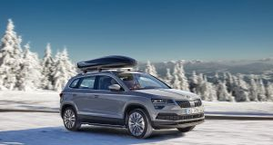 Skoda-Karoq-winter-drive