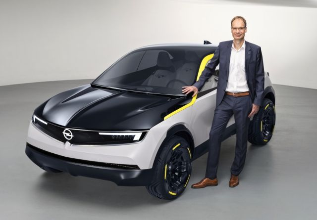 Michael Lohscheller with 2018 Opel GT X Experimental