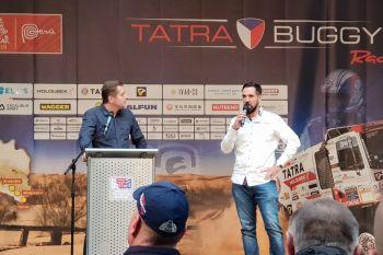 Moderátor Martin Pouva a manažer týmu Tatra Buggyra Racing Jan Kalivoda
