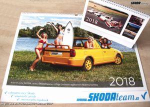 Další kalendář Škoda teamu je připravený. Nabídne krásné slečny i skvělé škodovky