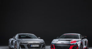 Even sharper and more striking: The Audi R8 V10 RWD and the Audi R8 LMS GT4