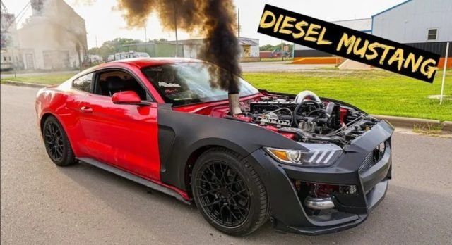 Ford-Mustang-s dieselovym-motorem-Cummins-video